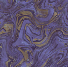 Purple and Gold Wallpaper with hints of Black Inspired by Marble and Malachite