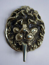 Solid Brass Vintage Lion's Head Door Knocker / Lock Cover. Cleaned & Repolished.