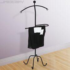 Suit Stand Metal Valet Butler Clothes Storage Organizer Wardrobe Rack Hanger