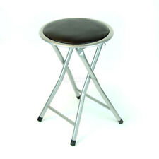 18 Inch DLUX Silver Lightweight Folding Cushioned Outdoor&Indoor Bar Stool Chair