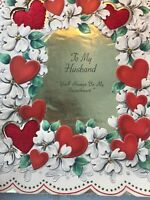 Vintage Valentines Day Card Hallmark 1948 Large Husband Sweetheart In Box