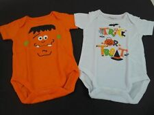 NEW Little Playmates INFANTS 2 Pck HALLOWEEN bodysuit /CREEPERS Munster/Trick