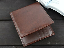 Men's Leather Bifold ID Card Holder Purse Wallet Billfold Handbag Clutch Good!