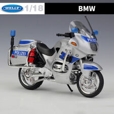 WELLY 1:18 Diecast Model BMW R1100 RT Germany Police Motorcycle Bike Models Toy