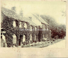 Old Cottages, Whiteley Woods, Sheffield, Yorkshire. - Original 1890s Photograph