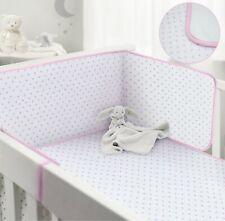 BabiesRus Pink cot Bumper and Cot coverlet Bedding set