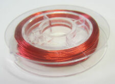 10 Metres Red Wire 26 Gauge For Beading, Scrapbooking, Craft, Jewellery Making