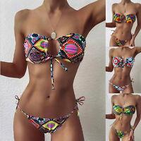 Sexy Women Bikini Set Swimwear Swimsuit Bra Top Thong Tankini Bathing Suit Beach