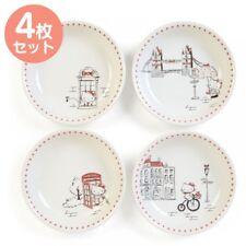 New Sanrio  Hello Kitty Pasta Plate 4pcs Set London From Japan F/S