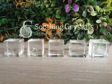 Three (3) Crystal Quartz Cube Platonic Solids Sacred Geometry Crystal Cubes