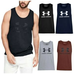 2020 Under Armour Mens Sportstyle Logo Tank Top UA Gym Training Sleeveless Vest