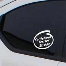 2x Sealyham Terrier Inside stickers car decals