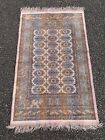 Antique Vintage Persian Pink Silk Bokhara Rectangular Carpet Rug 120cm X 68cm