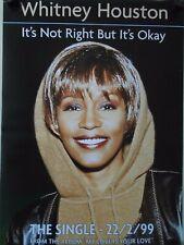 "Whitney Houston / Original ""1999"" Promo Poster / Exc. New cond. / 20 x 27 1/2"""