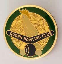 Quorn Bowling Club Badge Pin White Cockatoo Quality Lawn Bowls (K1)