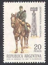 ARGENTINA 1968 GENDARMERIA NAZIONALE/cavalleria Cavallo// Polizia Montata 1v (n24222)