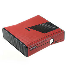 Textured Red Carbon Fibre Effect  XBOX 360 Slim decal skin sticker cover wrap