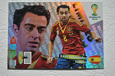 Xavi Hernández Limited Edition - Panini Adrenalyn XL FIFA World Cup Brasil 2014