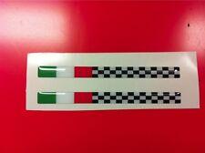 1 Adesivo Resinato Sticker 3D MOTO GUZZI tricolore e scacchi