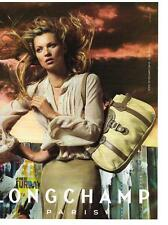 PUBLICITE ADVERTISING  2007   LONGCHAMP  KATE MOSS  bagages maroquinerie sacs