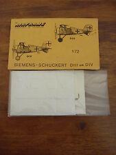 Cellule 1/72 Vacuform Model Kit Siemans Schuckert passe ou div avions allemands