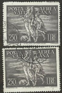 Vatican Stamps lot of 2 used stamps.
