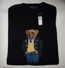new Polo Ralph Lauren Preppy Teddy Bear intarsia-knit sweater 2LT 2XLT MSRP $325