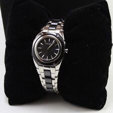 NEW AUTHENTIC ESCADA NAOMI SILVER BLACK WOMEN'S E2505031 WATCH