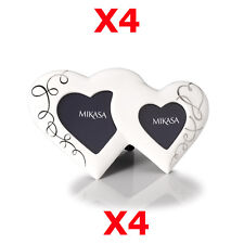 "4 X Mikasa Love Story Porcelain 11.5"" Two Hearts Photo Frame Lovestory 29cm"