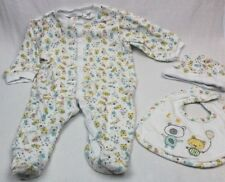 OLLIE'S PLACE Long Sleeved Romper Bibs & Beanie 3pc Set Size 3-6 months