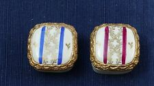 Gold-painted porcelain 2-piece trinket boxes marked Agostinelli ITALY