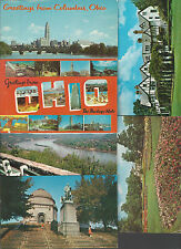 LOT of 6 OHIO Cards~Large Letter Greetings/Gov Mansion/River/Mansfield