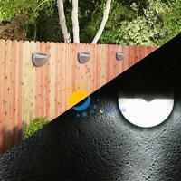 6-LED Outdoor Garden Solar Power Power Light Gutter Fence Yard Lamp Wall Roof #M