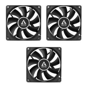 3 x Pack Arctic f8 stillen schwarz, 80mm 8cm schwarz PC Gehäuselüfter, hohe Leistung