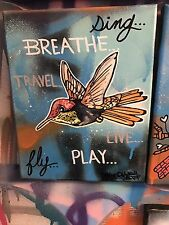 8 X 10 Spray Paint Acrylic Art Bird Hummingbird Painting Graffiti  Shortiez Ink