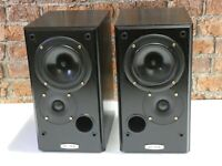 Pair Of Ruark Acoustics Icon Vintage Compact Size Bi-Wire Bookshelf Loudspeakers
