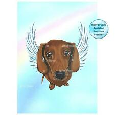 Dachshund Angel Art Print Dog Memorial Picture Pet Loss Gift 1