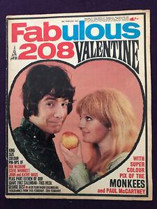 FABULOUS 208 magazine 18th Feb 1967 Pop Music Monkees Beatles Small Faces