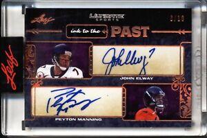 2021 Leaf Ultimate Sports - ink to the Past - John Elway & Peyton Manning - 6/10