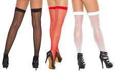 Fishnet Back Seam Thigh Highs Hosiery Sexy Stockings Nylons 1724