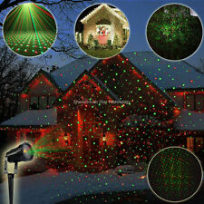Mini Outdoor Waterproof RG Laser Stars Patterns Landscape Xmas Garden Tree Light
