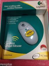 930498-0403, Logitech Cordless Wheel Mouse PS2/ USB for PC/ MAC, NEW