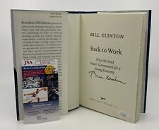 President Bill Clinton Signed Back To Work Book Autographed Jsa Coa Auto
