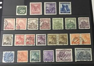 Bohemia Cechy & Moravia 25 German Protectorate WWII Stamps. Top 4 MNH with Gum