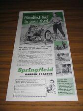 1953 Print Ad Springfield Garden Tractors Farmer Plows Garden Springfield,Ohio