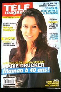 Télé Magazine 25/04/2015; Marie Drucker/ Interview Eve Angeli/ 15 ans de mini-sé