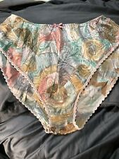 Vintage Myonne Panties Silky Shiny Nylon Size L Pastels Geometric USA Rare