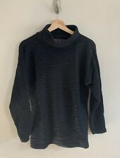 Peruvian Connection Black Cable Knit Turtle Neck Sweater Size Large