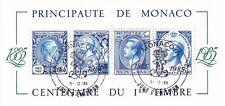 Monaco - 1985 - Centenaire 1ier Timbre  - Bloc N° 33 - Oblitéré - Used