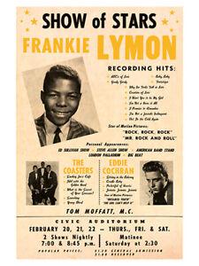 Fifties - Eddie Cochran - Civic Auditorium Concert Poster reprint (1958)